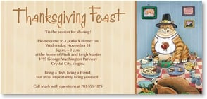 Thanksgiving Invitation - 'Tis the season for sharing...it's a Thanksgiving Feast | Gary Patterson | 2003556-P | Leanin' Tree