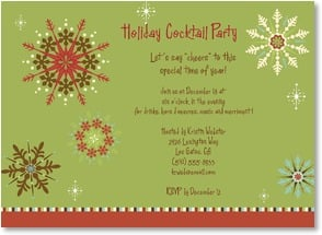 Holiday Party Invitation - Snowflake Holiday Party | LT Studio | 2003572-P | Leanin' Tree