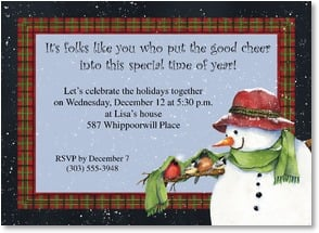 Holiday Party Invitation - Folks like you put the good cheer into this time of year! | Barb Tourtillotte | 2003573-P | Leanin' Tree