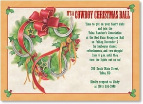 Christmas Invitation - Cowboy Christmas Ball | Nancy Kaestner | 2003577-P | Leanin' Tree