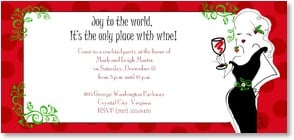 Holiday Party Invitation - Joy to the World! | Working Girls Design, Inc. | 2003580-P | Leanin' Tree