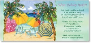 Holiday Party Invitation - What Holiday Rush? Eat, drink and relax... | Debi Hron | 2003586-P | Leanin' Tree