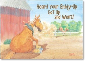 Get Well Card - Hope your giddy-up is not gone for long! | Bonnie Shields | 2003591-P | Leanin' Tree