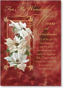 Christmas Card - The best gift is having you as my mother. | Dianne Woods | 2003598-P | Leanin' Tree
