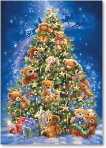 Christmas Card - Wishing you a beary Merry Christmas! | Dona Gelsinger | 2003623-P | Leanin' Tree
