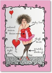 Valentine's Day Card - I'd rather be wearing my comfies. | Leslie Moak Murray | 2003650-P | Leanin' Tree