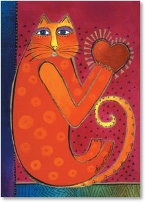 Friendship Card - Here's a hug from my heart...just because. | Laurel Burch® | 2003658-P | Leanin' Tree
