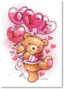 Valentine's Day Card - Wishing you a bright and happy Heart Day! | Tina Wenke | 2003677-P | Leanin' Tree