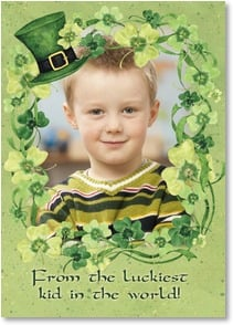 St. Patrick's Day Card - I'm lucky 'cause I know someone as wonderful as you! | Susan Winget | 2003703-P | Leanin' Tree