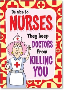 Nurses Day Card - Happy Nurse's Day | Aunty Acid™ | 2003743-P | Leanin' Tree