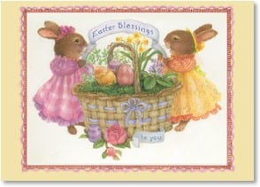 Easter Card - A heartfelt wish for a blessed Easter & springtime. | Susan Wheeler | 2003754-P | Leanin' Tree