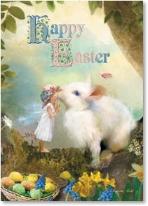 Easter Card - May springtime bring a touch of magic to your world. | Charlotte Bird | 2003759-P | Leanin' Tree