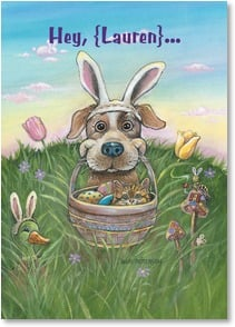 Easter Card - 'Ears to a Happy Easter! | Gary Patterson | 2003763-P | Leanin' Tree