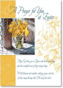 Easter Card - A Prayer for You at Easter w/ Romans 15:13 | Richard Macneil | 2003767-P | Leanin' Tree