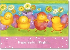 Easter Card - Hope your day is colored with friendship and fun! | Sue Zipkin | 2003770-P | Leanin' Tree