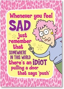 Encouragement & Support Card - I'm pulling for you! | Aunty Acid™ | 2003779-P | Leanin' Tree