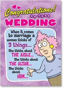 Wedding Card - AISLE ALTAR HIM!   | Aunty Acid™ | 2003785-P | Leanin' Tree