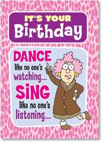 Birthday Card - ...and the night in county jail is part of the fun! | Aunty Acid™ | 2003794-P | Leanin' Tree
