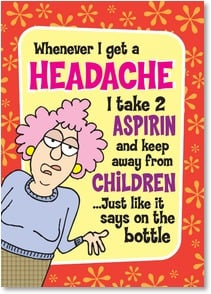 Get Well Card - Follow these directions to the letter: GET WELL SOON! | Aunty Acid™ | 2003799-P | Leanin' Tree