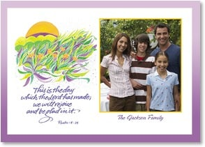 Easter Card - Bright and beautiful Easter Blessings w/ Psalm 118:24 | Louise Grunewald | 2003808-P | Leanin' Tree