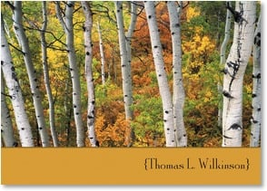 Personalized Stationery Card - Autumn Aspen Grove | John Fielder | 2003811-P | Leanin' Tree