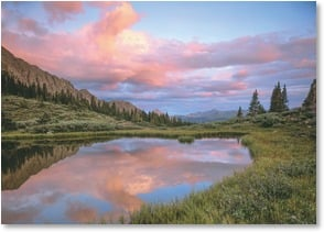 Blank Card - West Needles, San Juan Mtns. Sunrise - Weminuche Wilderness | John Fielder | 2003833-P | Leanin' Tree