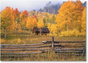 Blank Card - Uncompahgre Autumn Fog - near Ridgeway, CO | John Fielder | 2003843-P | Leanin' Tree