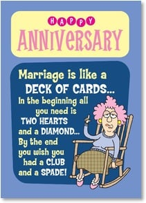Anniversary Card - You're well suited and a perfect pair! | Aunty Acid™ | 2003859-P | Leanin' Tree