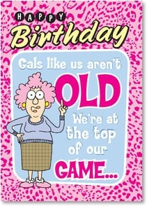 Birthday Card - BINGO!  Have a great day! | Aunty Acid™ | 2003862-P | Leanin' Tree