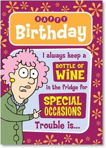 Birthday Card - ...most nights the special occasion is wine in the fridge! | Aunty Acid™ | 2003865-P | Leanin' Tree
