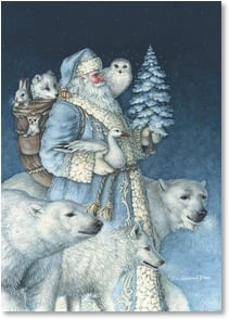 Christmas Card - May the magic of Christmas live forever in your heart | Liz Goodrick Dillon | 2003934-P | Leanin' Tree