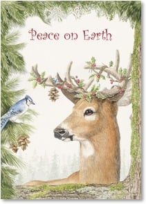 Christmas Card - Peace on Earth Good Will to All | Joy Campbell | 2003980-P | Leanin' Tree