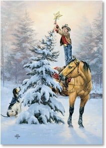 Christmas Card - Hope your Christmas is topped off with good cheer! | Jack Sorenson | 2004018-P | Leanin' Tree