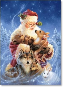 Holiday Card - May the magic and love of this special Season surround you | Dona Gelsinger | 2004046-P | Leanin' Tree