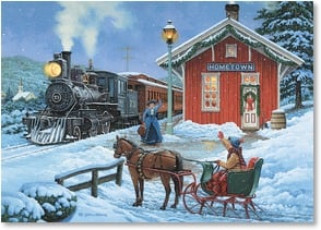 Christmas Card - Another Christmas is rolling in... | John Sloane | 2004056-P | Leanin' Tree