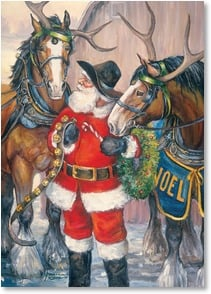 Christmas Card - Hold your horses, Christmas is here! | Nona Hengen | 2004057-P | Leanin' Tree