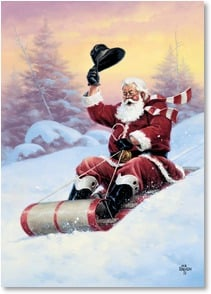 Christmas Card - A run of good old-fashioned fun!   | Jack Sorenson | 2004060-P | Leanin' Tree