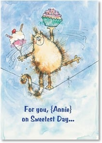 Sweetest Day Card - Wishing  you happiness, smiles and a well-balanced diet! | Margaret Sherry | 2004091-P | Leanin' Tree