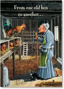 Birthday Card - We still know a good ol' roarin' rooster when we see one! | Boots Reynolds | 2004113-P | Leanin' Tree