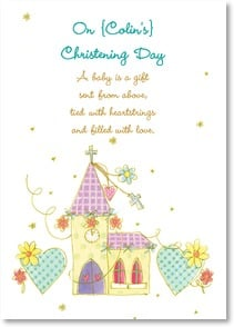 Christening Card - With joy and best wishes on this special day. | Hammond Gower | 2004144-P | Leanin' Tree