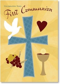 First Communion Card - May you know Jesus as your savior... w/ 2 Timothy 1:9 | LT Studio | 2004148-P | Leanin' Tree