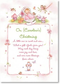 Christening Card - May each day bring more joy, love and blessings from above. | Tina Wenke | 2004150-P | Leanin' Tree