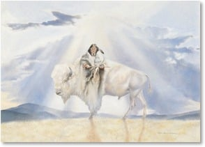 Holiday Card - To the Great Spirit in the Season, a prayer... | Rogue Guirey Simpson | 2004151-P | Leanin' Tree