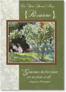 Birthday Card {Name} - Wishing you the perfect day. | Peter Severin Kroyer | 2004224-P | Leanin' Tree