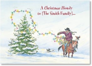 Christmas Card {Name} - Hopin' you're ropin' lots of happy holiday spirit! | Crash Cooper | 2004264-P | Leanin' Tree