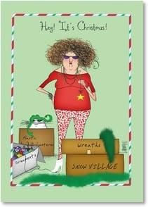 Christmas Card - Time to take down the Halloween ...