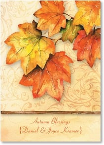 Thanksgiving Card {Name} - The leaves turn and the seasons change... | Barb Tourtillotte | 2004300-P | Leanin' Tree