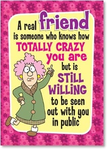 Friendship Card - Crazy lucky. | Aunty Acid™ | 2004331-P | Leanin' Tree