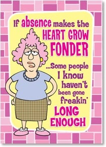 Miss You Card - Missing YOU Too Freakin' Much! | Aunty Acid™ | 2004345-P | Leanin' Tree