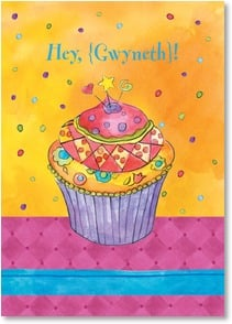 Birthday Card {Name} - A day sprinkled with joy and laughter! | Sue Zipkin | 2004395-P | Leanin' Tree